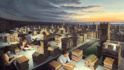 Rob Gonsalves Prints - Towers of Knowledge