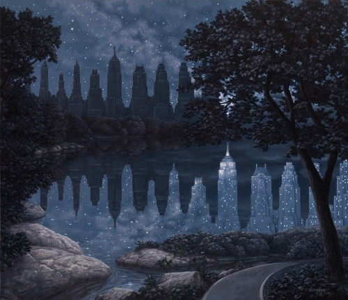 Rob Gonsalves Art - When the Lights were Out