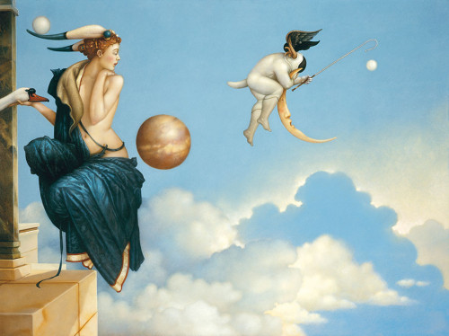 Moon Thief by Michael Parkes